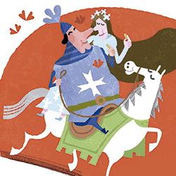 L'excavaller sant Jordi i la princesa Mariona