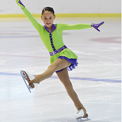 Soc patinadora sobre gel
