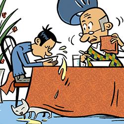 Et saps comportar, a taula?