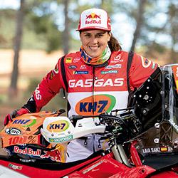La Laia, motociclista