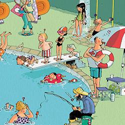 A la piscina!